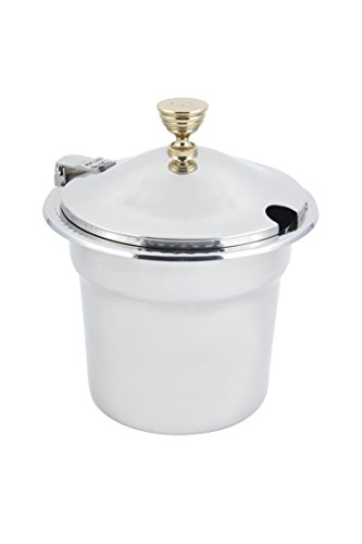 Bon Chef 5611WHC Stainless Steel Soup Tureen with Hinged Cover, Arches Design, 7-1/2 quart Capacity, 10-5/8'' Diameter x 8-1/4'' Height by Bon Chef