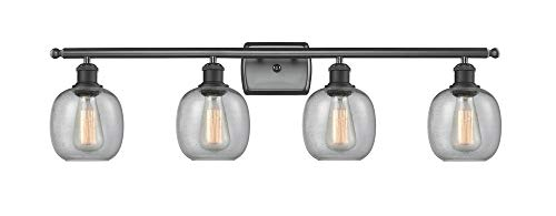 Innovations 516-4W-BK-G101 4 Light Bathroom Fixture, Matte Black from Innovations