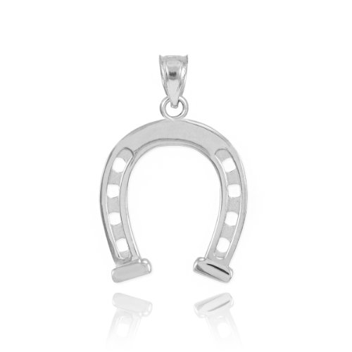Sterling Silver Lucky Charm Horseshoe (Silver Lucky Charm)