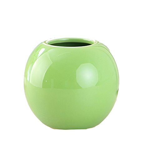 KissH Simple Continental Abstract Ball Ceramic Vase Green