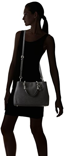 Michael Kors Cynthia Saffiano Leather Medium Satchel Negro