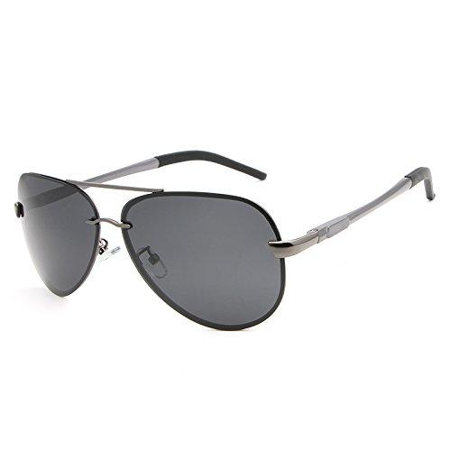 Gafas Marca Shishanyun Polarizado de Hombres Diseñador conducción Sol Gafas de la de Accesorios Vintage sin Gun Espejo de Sol Gafas Sombreros gray Montura de Sol Gafas Semi qtprHtB