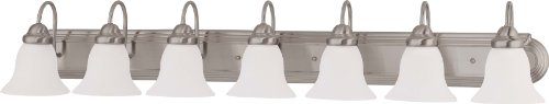Nuvo Lighting 60/3283 Seven Light Vanity, 7, Brushed Nickel/Frosted -