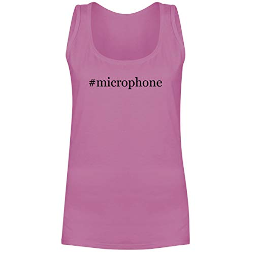 The Town Butler #Microphone - A Soft & Comfortable Hashtag Women's Tank Top, Pink, XX-Large
