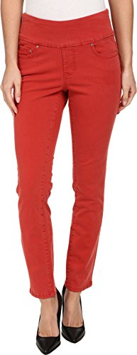 Jag Jeans Women's Amelia Pull-On Slim Ankle, Rouge Red, 12
