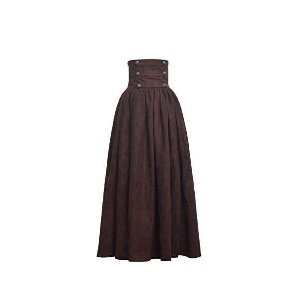 BLESSUME Gothic Skirt Lolita Steampunk High Waist Walking Skirt 5