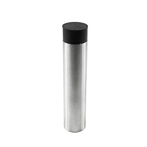 NQFL Door Stop Stopper Wall Mounted Mount Doorstop Heavy Duty Stainless Steel Bumper Rubber Buffer T(4590mm) Silver(No Base)-2