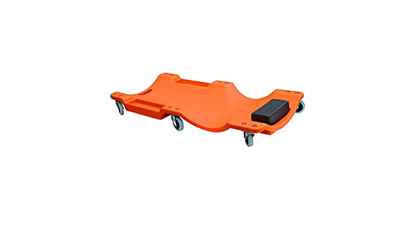 Offex 40 Plastic Mechanics Creeper with Tool Storage Trays Orange