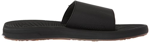Quiksilver Men's Travel Oasis Slide Sandal, Black/Black/Brown, 8(41) M US by Quiksilver (Image #6)