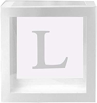 NW Wn - 1 Caja de cartón Transparente Cuadrada para Globos ...