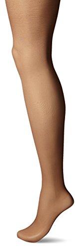 Hanes Silk Reflections Women's High Waist Control Top Sandalfoot Pantyhose, Gentle Brown, C/D