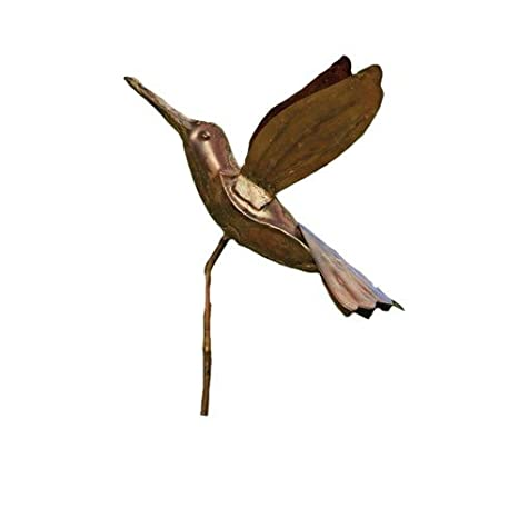 Delicieux Ancient Graffiti Flamed Copper Hummingbird Garden Ornament