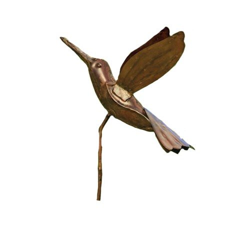 Ancient Graffiti Flamed Copper Hummingbird Garden (Hummingbird Garden Stake)