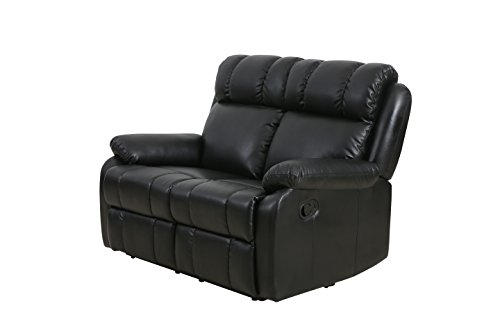 BestMassage Classic Double Reclining Loveseat Leather Living Room Furniture recliner sofa Double Recliner Sofa