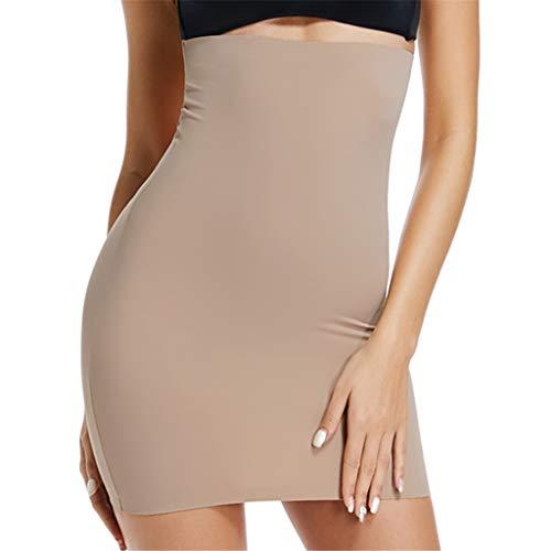 Half Slip for Under Dresses Womens High Waist Underwear Slips Seamless Tummy Control Shapewear (Nude, Medium)