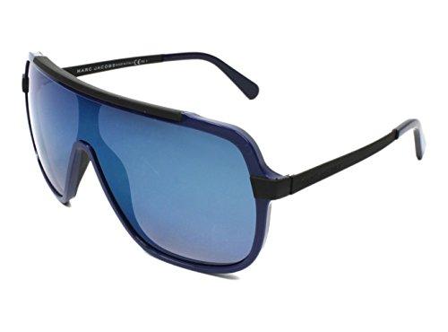 Marc Jacobs MJ593/S KLNKM (Blue - Matt Black with Grey Gradient with Blue mirror effect - Jacobs Marc Sunglasses Shield