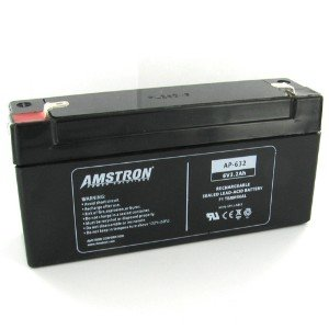 Amstron 6V/3.2AH Sealed Lead Acid Battery w/ F1 Terminal ()
