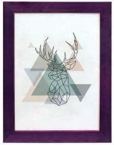 Format 13x18 Artepoint Holz Bilderrahmen Natur von 9x13 bis 50x70 Querformat und Hochformat zum Aufh/ängen und Aufstellen Rahmen KIEFERNHOLZ Farbe Violett