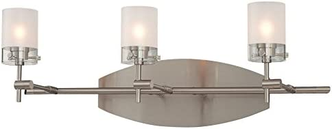 George Kovacs P5013-084, Shimo, 3 Light Bath FIxture, Brushed Nickel