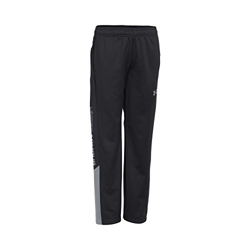 Under Armour Boys Brawler 2.0 Pant, Black/Steel, Youth Medium by Under Armour