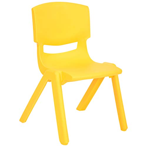 - JOON Stackable Plastic Kids Learning Chairs, 20.8x12.5 Inches, The Perfect Chair for Playrooms, Schools, Daycares and Home (Yellow)