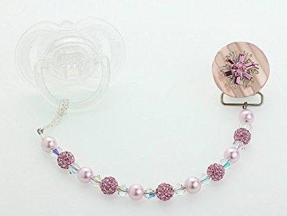Crystal Dream Filigree de Swarovski Chupete Clip con Pink pavimentar ...