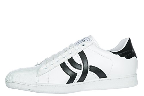John Richmond Mens Scarpe Uomo Sneakers In Pelle Tatoo Bianco
