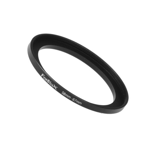 Fotodiox Metal Step Up Ring Filter Adapter, Anodized Black Aluminum 58mm-67mm, 58-67 mm