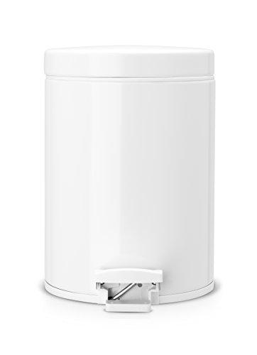 Brabantia Step Trash Can, 1.3 Gallon, White ()