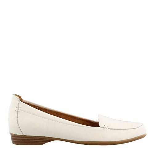Naturalizer Women's Saban White Leather Loafer ()