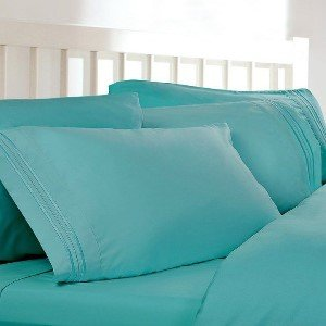Superb Queen Sheets, Color: Teal Blue, 1800 Thread Count Egyptian Bed Sheets, Deep