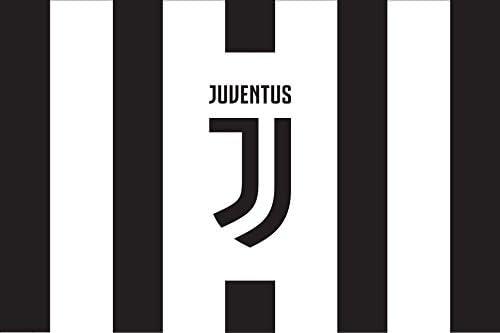 140/x 160/cm Drapeau officiel g/éant de la Juventus