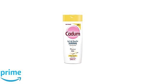 Cadum Crema de ducha surgras de aceite de almendras dulces biológico y de leche de vainilla, 400 ml, juego de 3 unidades: Amazon.es: Belleza