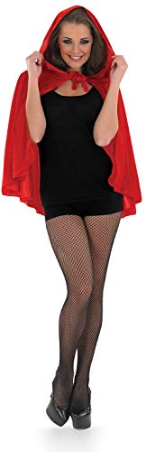 Red Riding Hood Costumes For Adults (fun shack Womens Little Red Riding Hood Cape Short Fairytale Costume Accessory - One)