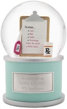Things Remembered Personalized Nurse Snow Globe with Engraving Included