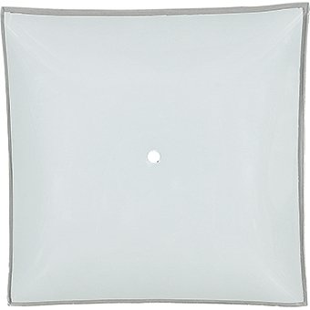 """12"""" Square Glass Light Shade with Hole - White"""