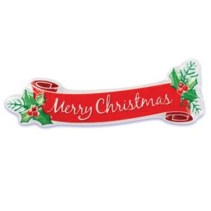 merry christmas banner cake pop top topper