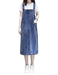 Aimeely - Vestido de Vaquero Suelto para Mujer, Talla Grande