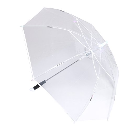Creative Lightsaber Stick Umbrella 7 Colour changing LED Light Daily Accessory (clear) (Umbrella Lights With Rain)