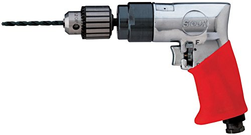 (Sioux Tools 5445R - Air Drill or Driver - Reversible, Pistol Grip Handle, Chuck Size 10 mm, 3/8 in, 1800 rpm Maximum)
