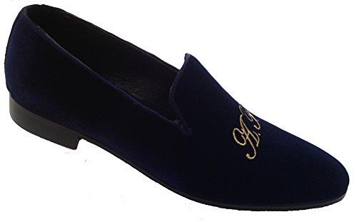 iniziali scarpe uomo in velluto slippers con pantofola modello personalizzate Avp0wxAq