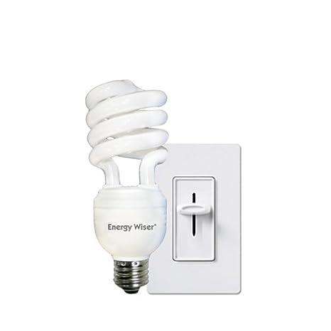 bulbrite cf23c ww dm 23watt dimmable compact fluorescent coil bulb