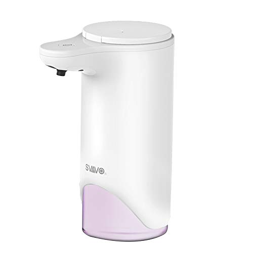 (SVAVO Automatic Foaming Soap Dispenser - 0.25s Infrared Sensor Touchless Countertop Soap Dispensers for Smart Home, Dispensary, Clinic, Hospital, Adjustable Foam Volume, 9.5oz)