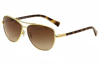 6986ccbeb0 COACH Women s 0HC7058 Gold Dark Tortoise Dark Brown Gradient Sunglasses