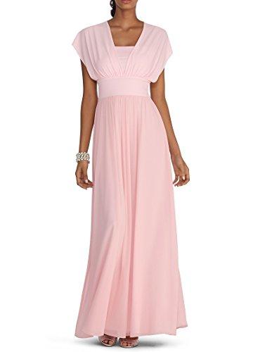 WeiYin Women's Chiffon Knee Length Halter Party Dresses Pink US 2