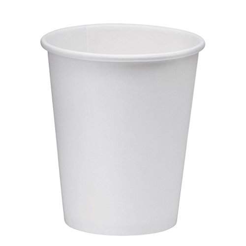 NYHI 200-Pack 6oz White Paper Disposable Cups – Hot/Cold Beverage Drinking Cup for Water, Juice, Coffee or Tea – Ideal for Water Coolers, Party, or Coffee On the Go' by NYHI (Image #3)