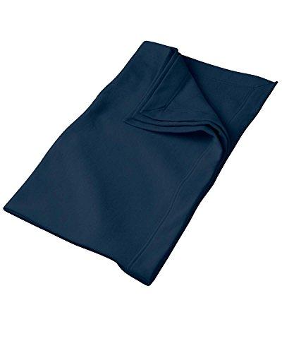 - Gildan G129 9.3 oz. DryBlend Fleece Stadium Blanket - Navy - OS
