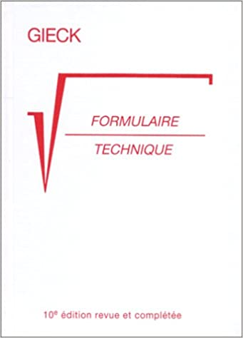 Formulaire Technique 10eme Edition Amazon Ca Kurt Gieck Books
