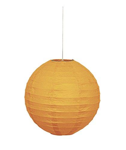 """10"""" Round Orange Paper Lantern"""