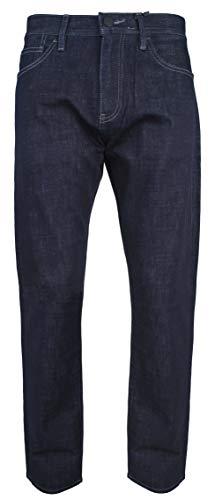 A|X Armani Exchange Men's Straight Fit Denim Jeans, Dark Rinse, (Armani Straight Leg Jeans)